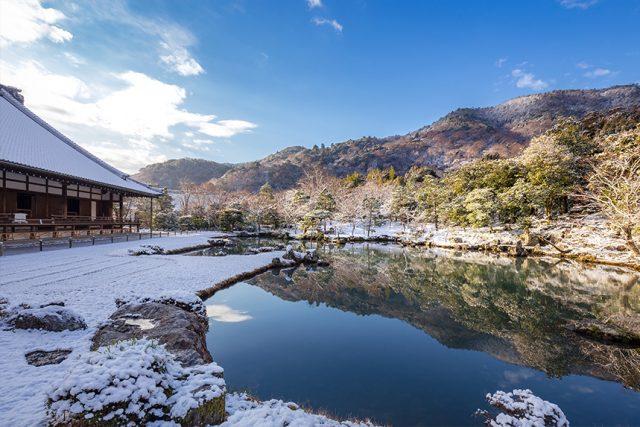 天龍寺 ~嵐山を借景にした庭園~